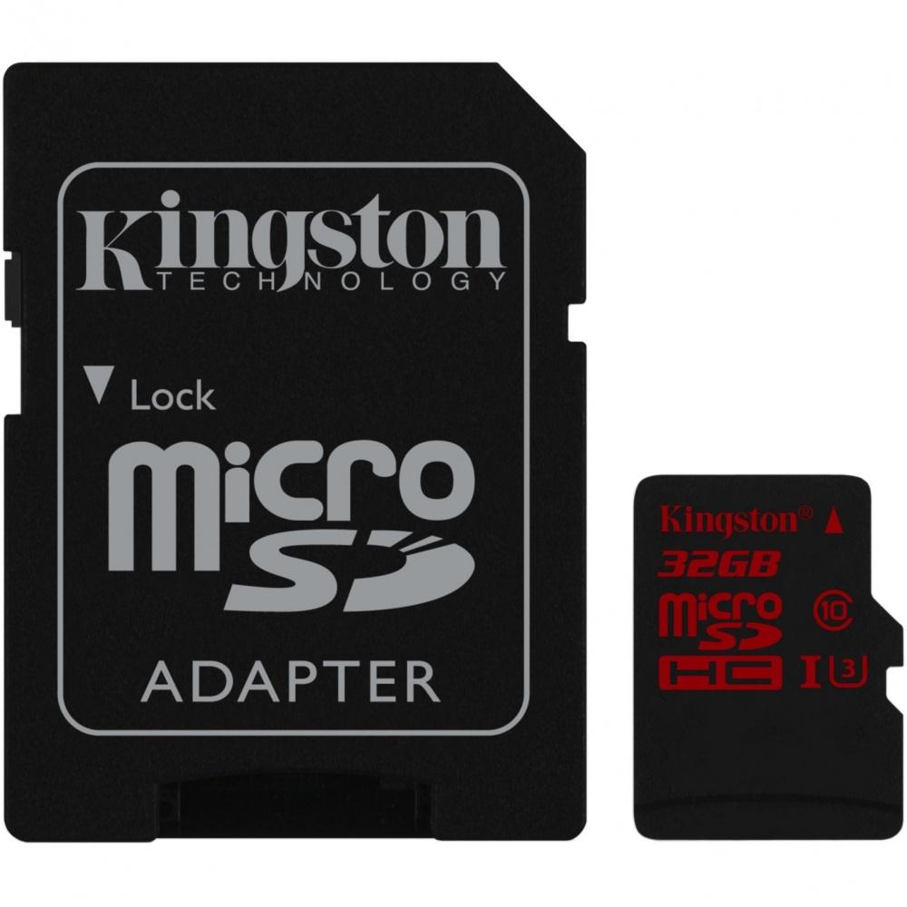 Kingston microSDHC 32GB UHS-1 U3 90R/80W
