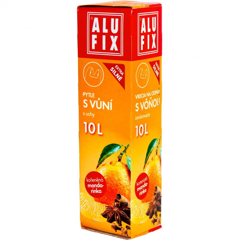 Vrecia 10L do odpadkových košov s uchami s arómou mandarinky