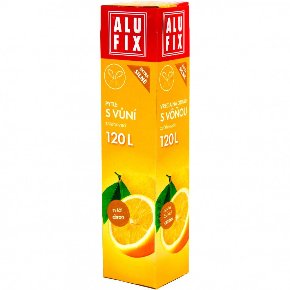 Vrecia 120L do odpadkových košov so zaťahovaním s arómou citróna