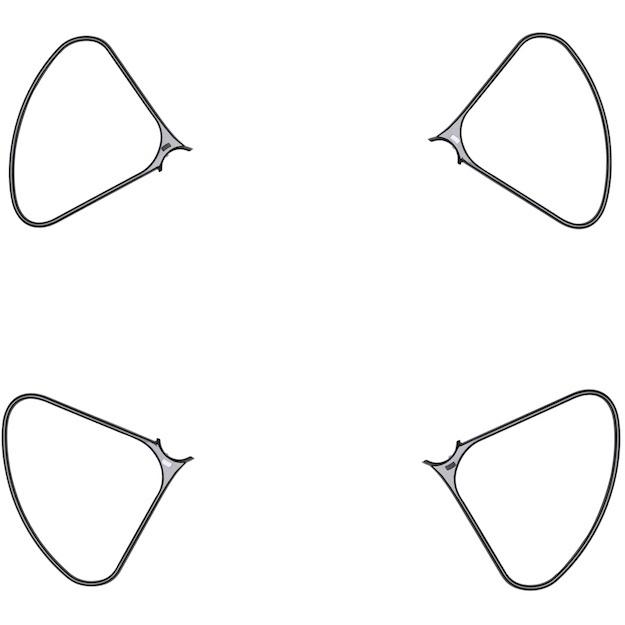 Ochranné oblúky vrtúľ pre DJI Phantom 4 Pro Obsidian Edition