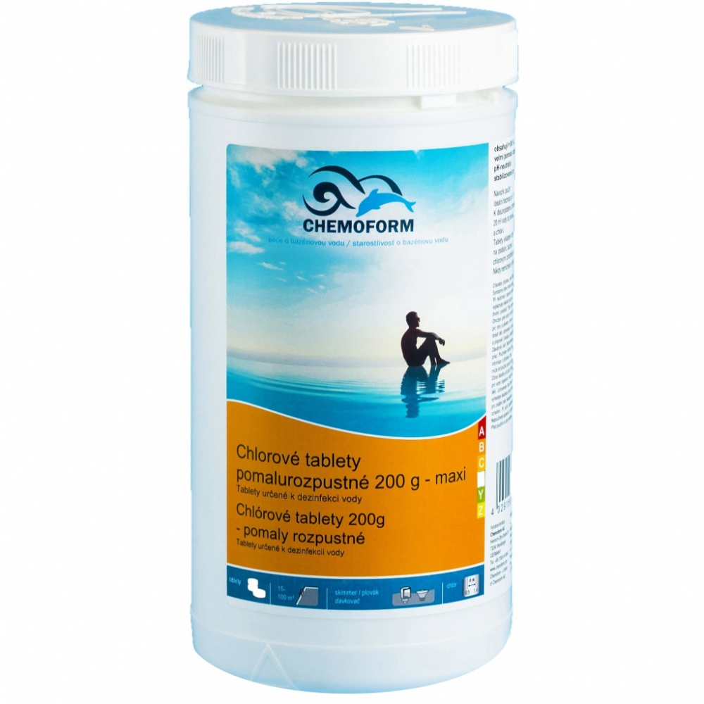 Chemoform chlórové tablety (pomalyrozpustné) - 1 kg