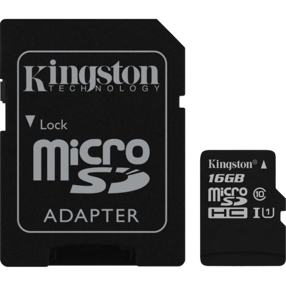 Kingston microSDHC 16GB UHS-1 U1 90R/45W