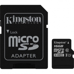 Pamäťová karta Kingston microSDHC 16GB UHS-1 U1 90R/45W