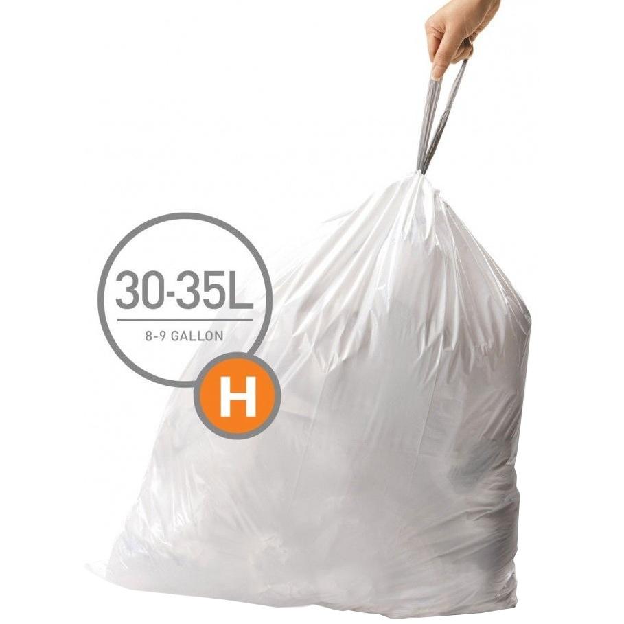 Vrecia typu H do odpadkových košov Simplehuman - 20ks