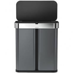 Simplehuman RECTANGULAR 58L triedený odpad - black