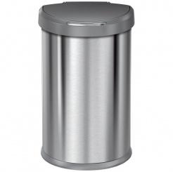 Simplehuman SEMI-ROUND 45L s plast. vekom - silver