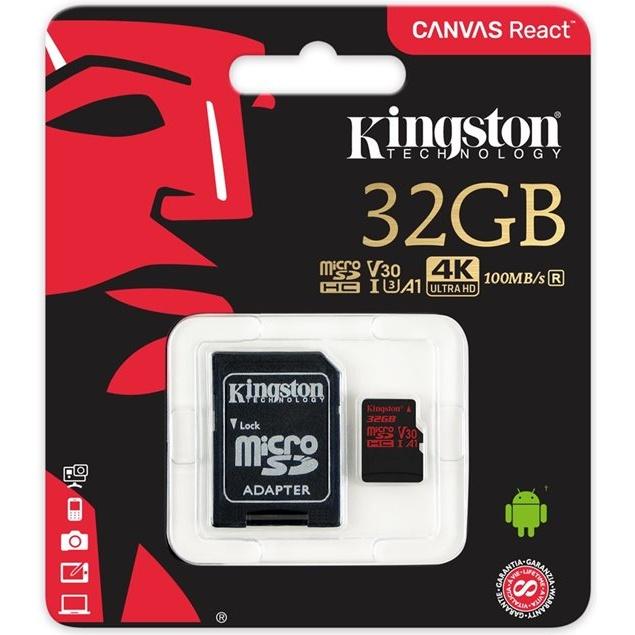 Kingston microSDHC 32GB UHS-1 U3 100R/70W