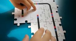 Drevené puzzle pre Ozobot