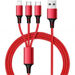 Nabíjací a synchronizačný USB kábel 3v1