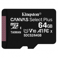 Kingston microSDXC 64GB UHS-1 U1 100R/10W