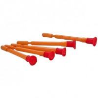 Sada piatich plastových striel