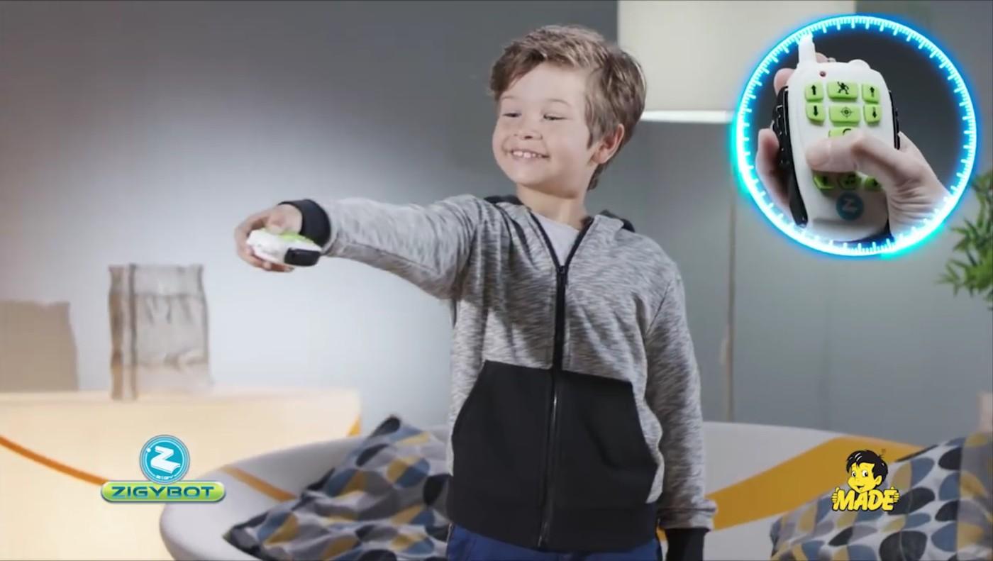 Zigybota môžete ovládať aj diaľkovo