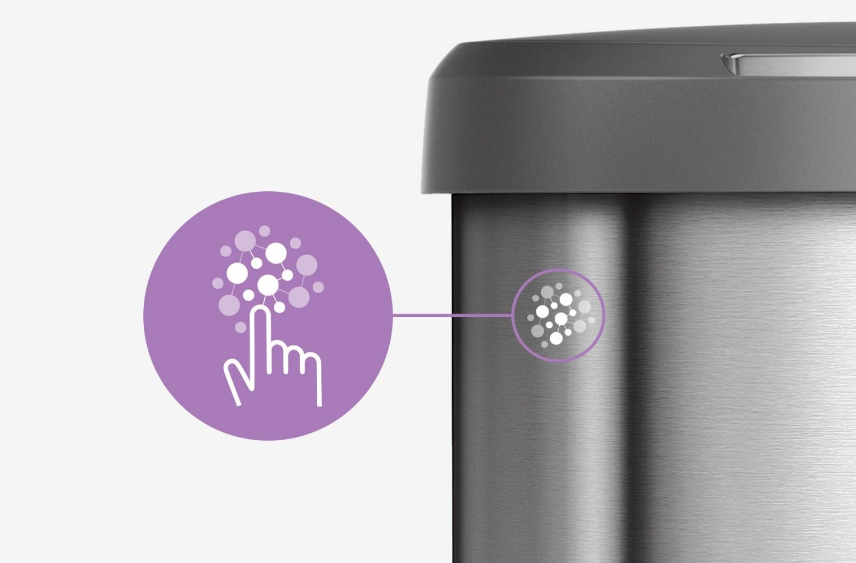 Antibakteriálna a bezotlačková povrchová úprava