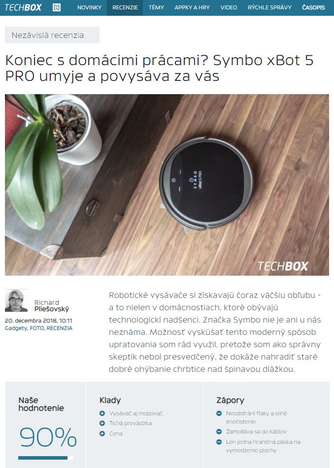 Nezávislá recenzia robotického vysávača Symbo xBot 5 PRO na Techbox.sk