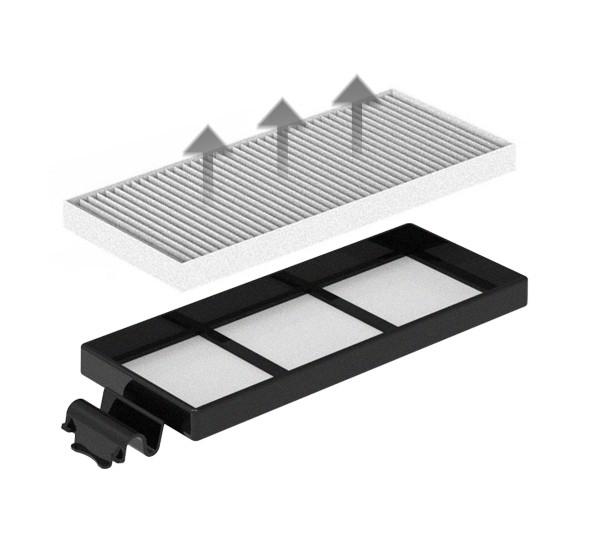 Dvojitá filtrácia - HEPA dizajn filter zachytí aj jemný prach a alergény