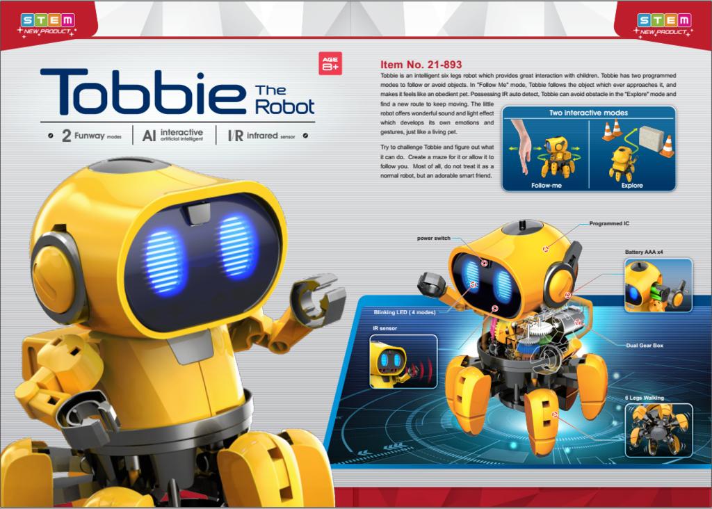 Predstavenie Robota Tobbie