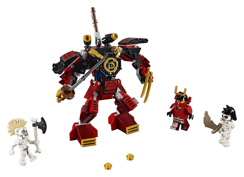 Samurajov robot s trojicou minifigúrok v jednom balení