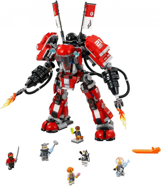 Ohnivý Robot so šesticou minifigúrok v jednom balení