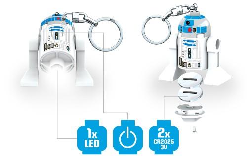 Predstavenie svietiacej figúrky LEGO Star Wars R2D2