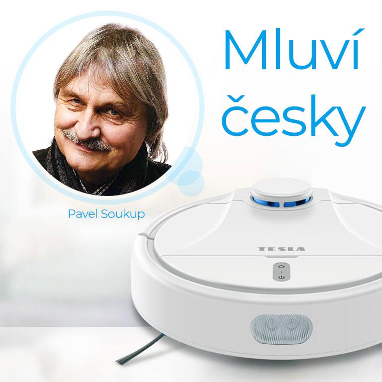 Česky hovoriaci robotický vysávač s aplikáciou pre smartphone v češtine