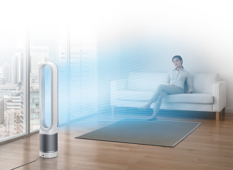 Čistí vzduch a poskytuje osviežujúci prúd čerstvého vzduchu