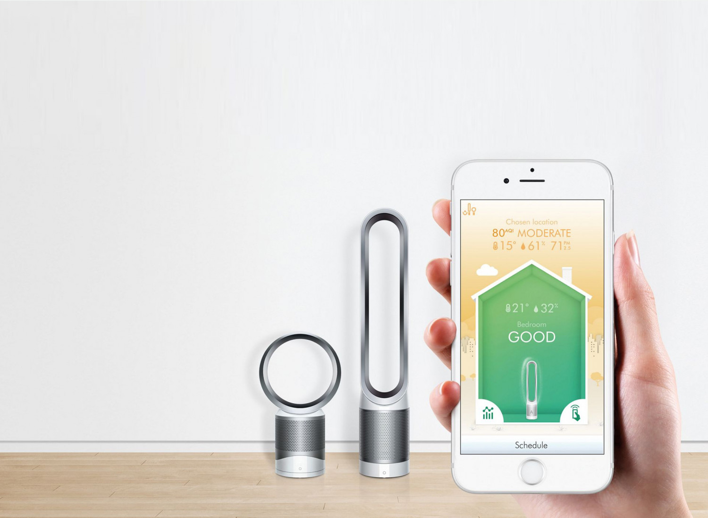 Inteligentné čistenie vzduchu na diaľku s pomocou aplikácie Dyson Link
