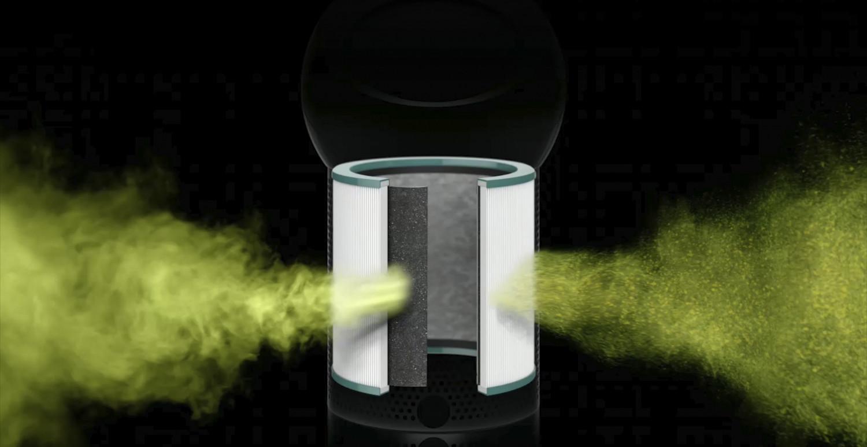 Zachytáva škodlivé plyny a znečisťujúce látky