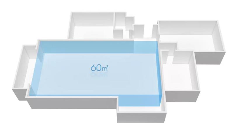 Oblasť aplikácie až do 60 m²