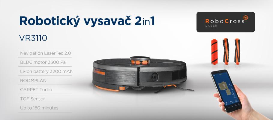Predstavenie robotického vysávača Concept VR2110 2v1 RoboCross Gyro