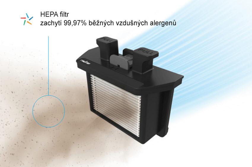 PureAir HEPA filtrácia a uzamknutie nečistôt