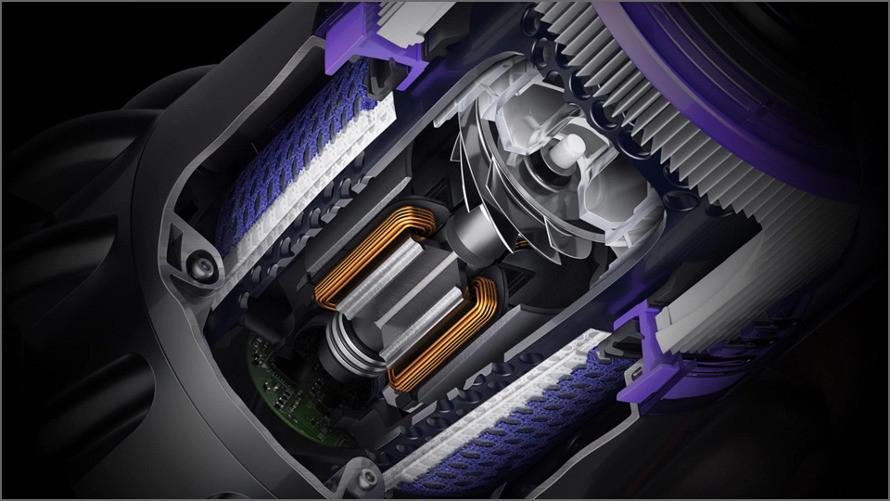 Poháňaný digitálnym motorom Dyson V11