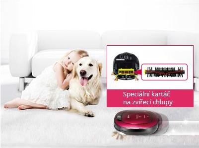 Speciální PET kartáč na zvířecí chlupy